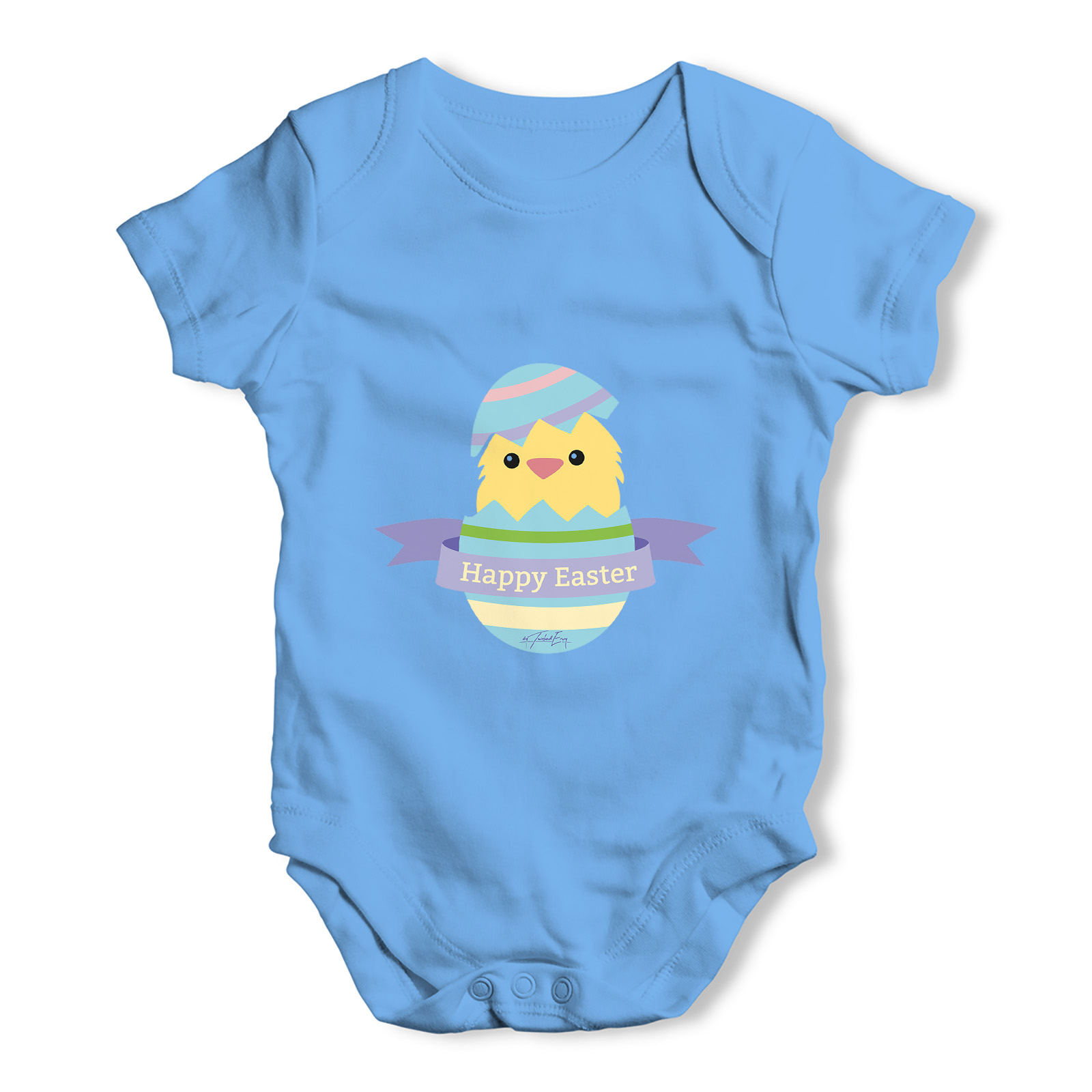 Funny Infant Baby Bodysuit Happy Easter Chick Hatching Baby Unisex Baby Grow Bodysuit