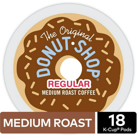 The Original Donut Shop Regular Coffee, Keurig K-Cup Pod, Medium Roast, 18ct (Kureg Coffee Refills)