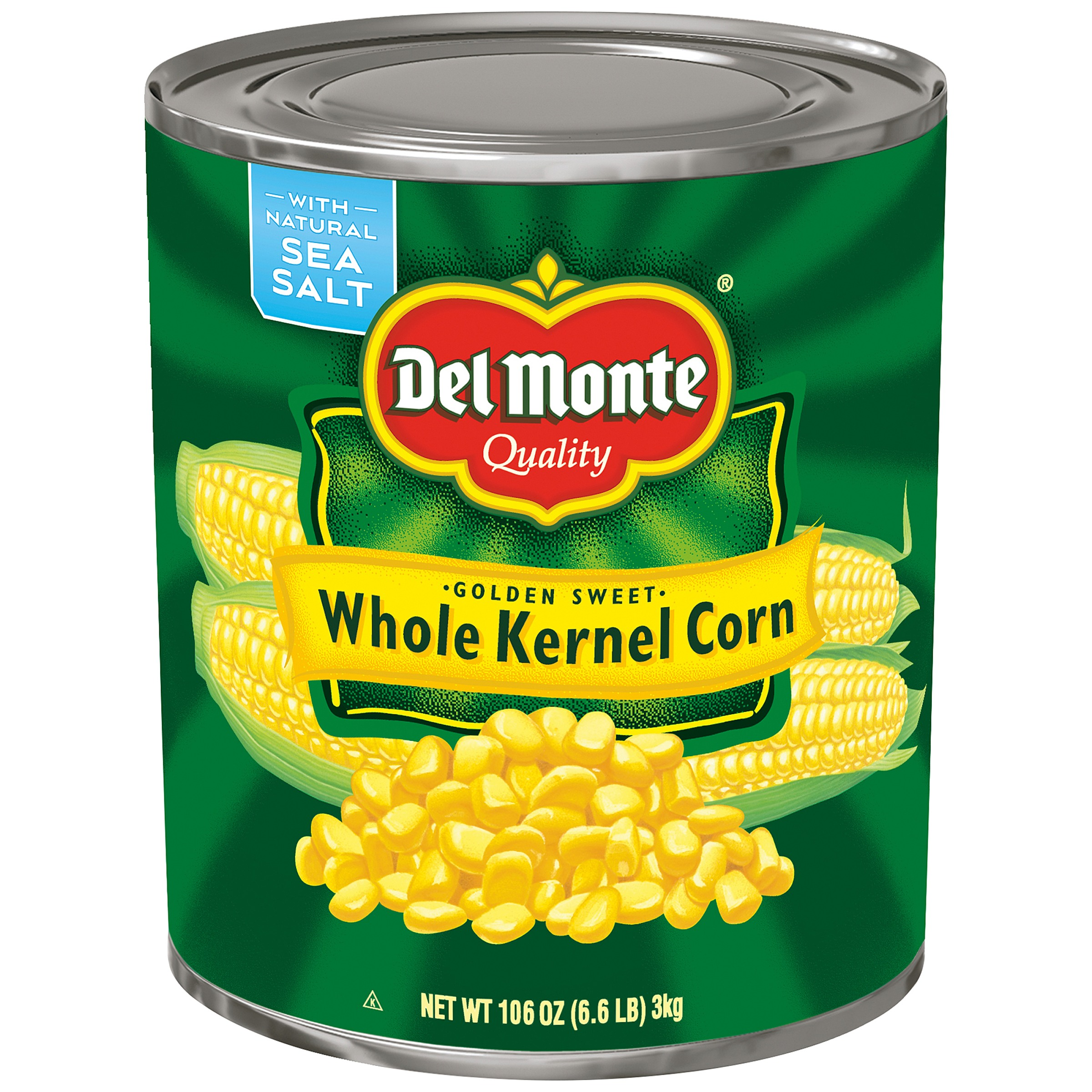 Del Monte Golden Sweet Whole Kernel Corn, 106 oz