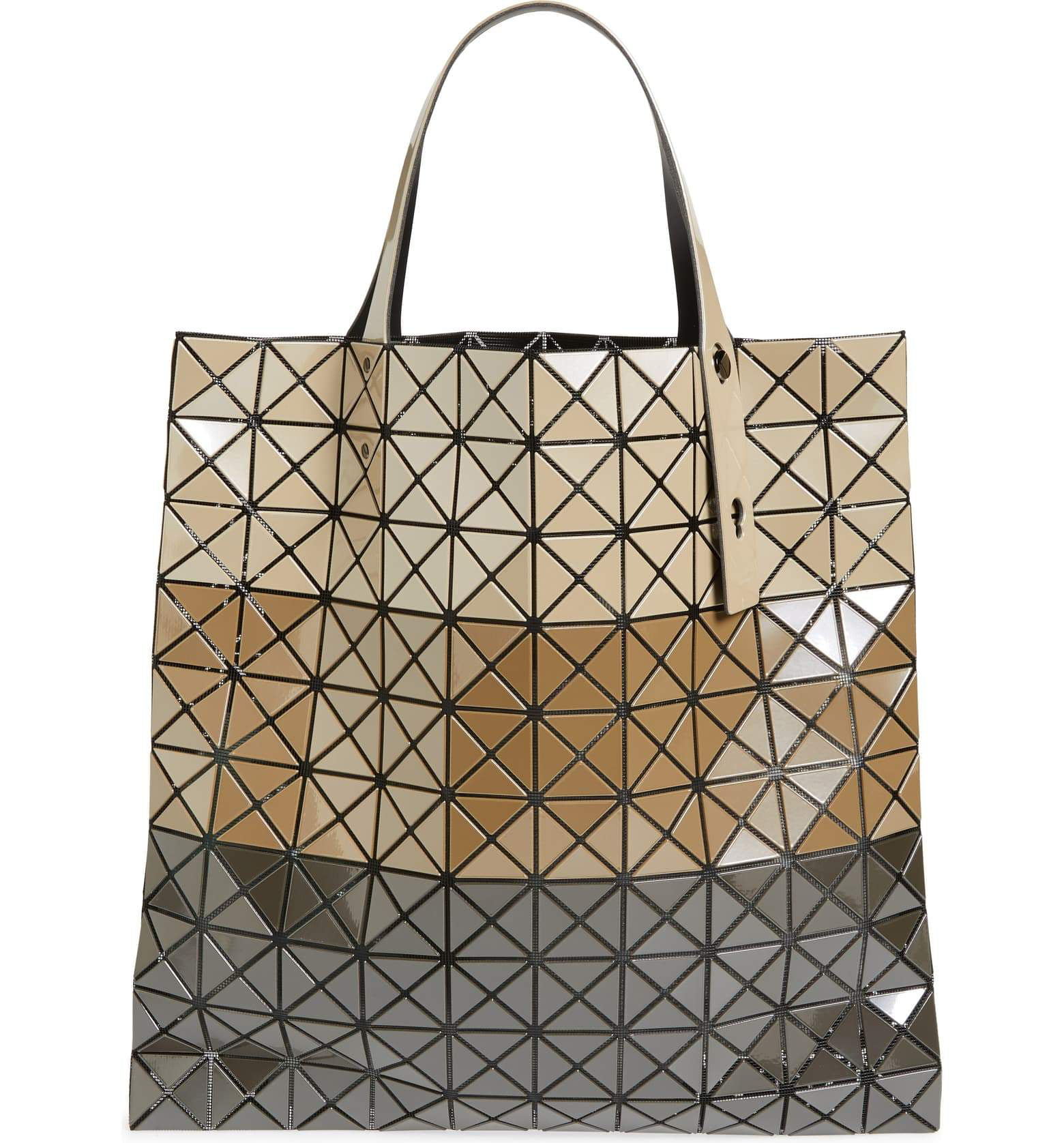 Bao Bao Issey Miyake Prism Large Tote Bag Handbag Japan Color Block Beige New Walmart Com Walmart Com