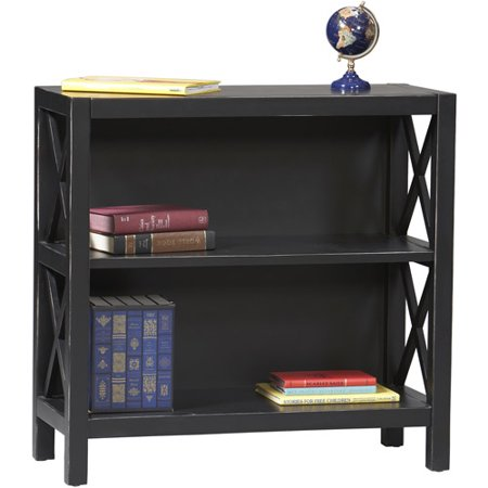 linon home decor products anna collection 3 shelf bookcase antique black. Black Bedroom Furniture Sets. Home Design Ideas