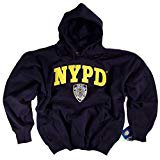 Reebok Navy Blue Sweatshirt (NYPD Hooded Sweatshirt Navy Blue Authentic Clothing Apparel Officially Licensed Merchandise by The New York City Police )