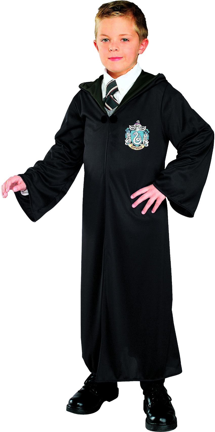 Childs Harry Potter Slytherin House Malfoy Costume Robe by Rubies Costume Co