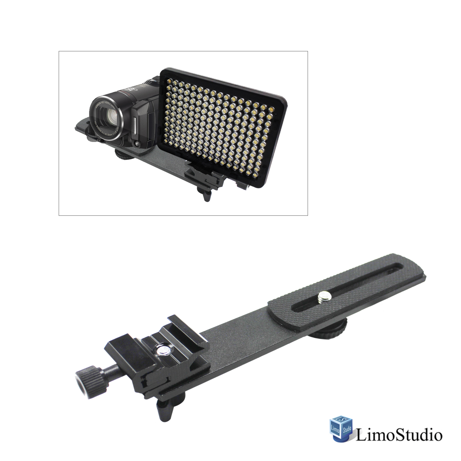 "Loadstone Studio 6.3 inch Straight Camera Flash Bracket 1/4""-20 Screw Hot Shoe Mount for Video Lights, Microphone, Monitor and Camera Accessories, WMLS4472"