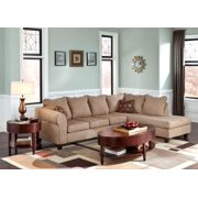 2-Pc Sectional Set in Taupe Finish