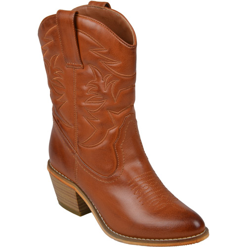 Brinley Co. Women's Topstitched Cowboy Boots