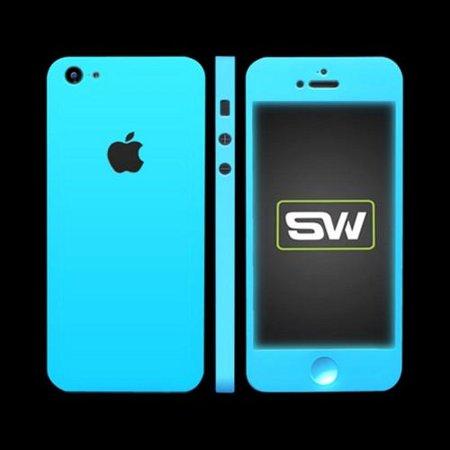 apple iphone se/5/5s/5c, slickwraps [glow in the dark blue] protective skin  & screen protector