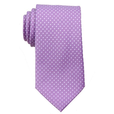 Mens Polka Dot Necktie - Light Purple