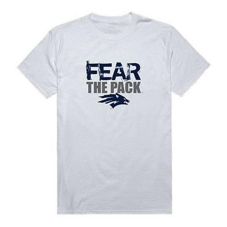 W Republic Apparel 518-193-N01-01 University of Nevada Reno Fear Tee for Men, White - Small (No Fear Mens Jerseys)