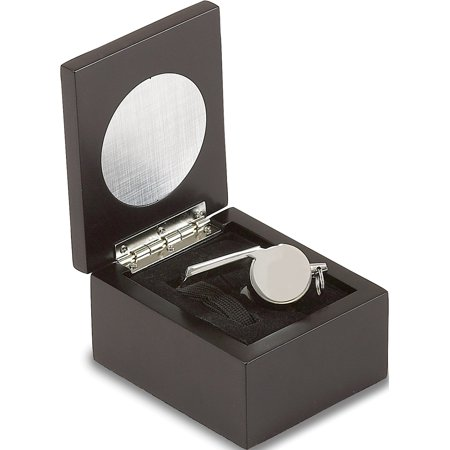 - Stainless Steel Coach Whistle in Wooden Presentation Case (3.75x3mm)