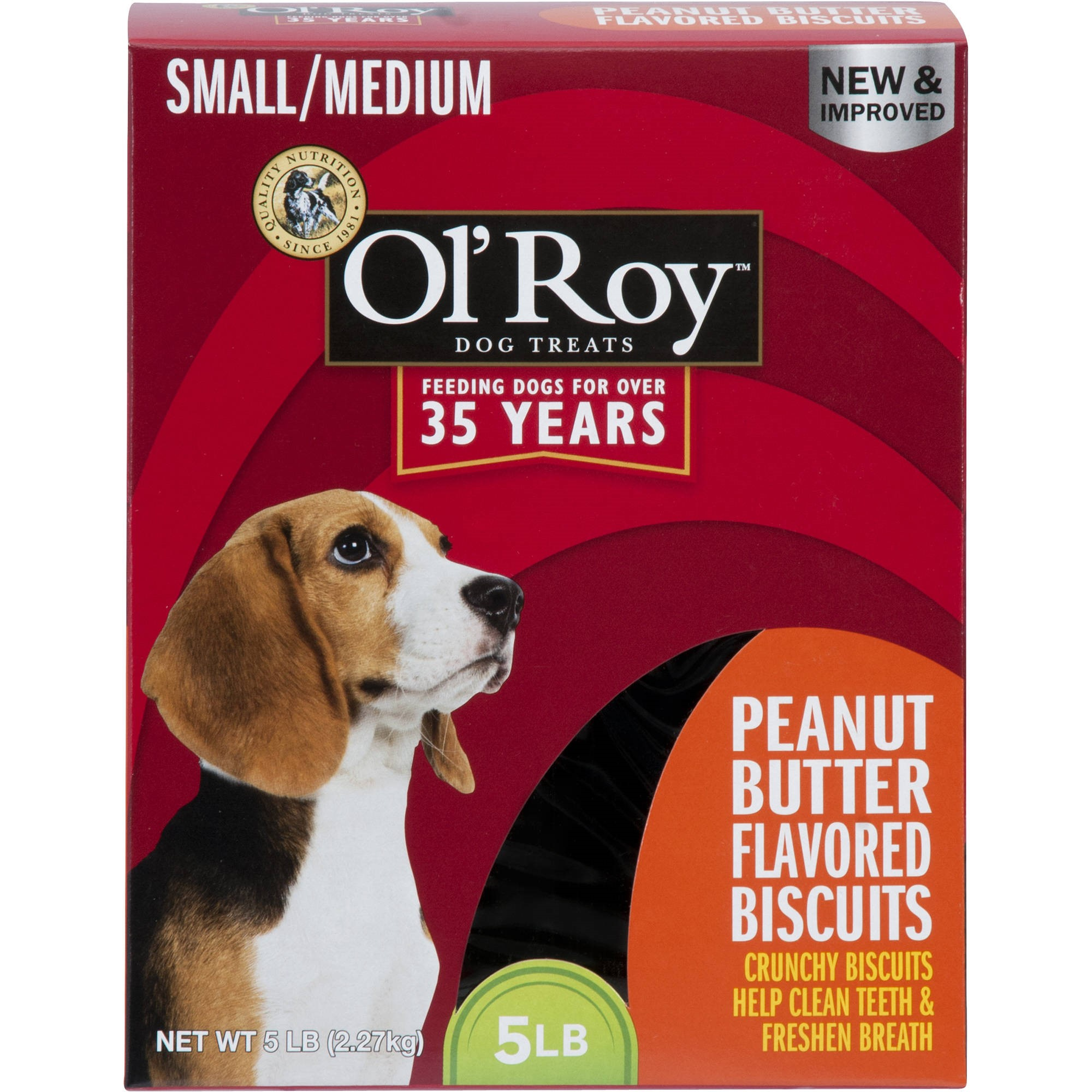 Ol' Roy Peanut Butter Flavored Biscuits, Small/Medium Breed, 5 lb