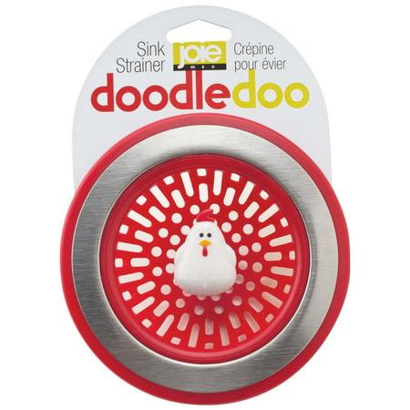 Joie Doodle Doo Kitchen Sink Strainer Basket, Rooster, (Pvc Simplex Basket Strainer)