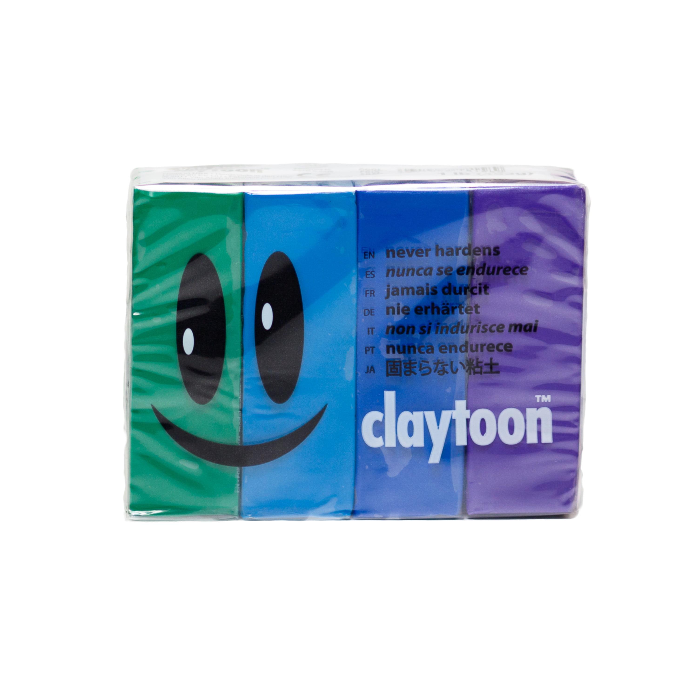 Van Aken Claytoon Clay Set, Cool Colors
