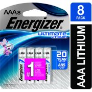 Energizer Ultimate Lithium Batteries, AAA, 8/Pack -EVEL92SBP8