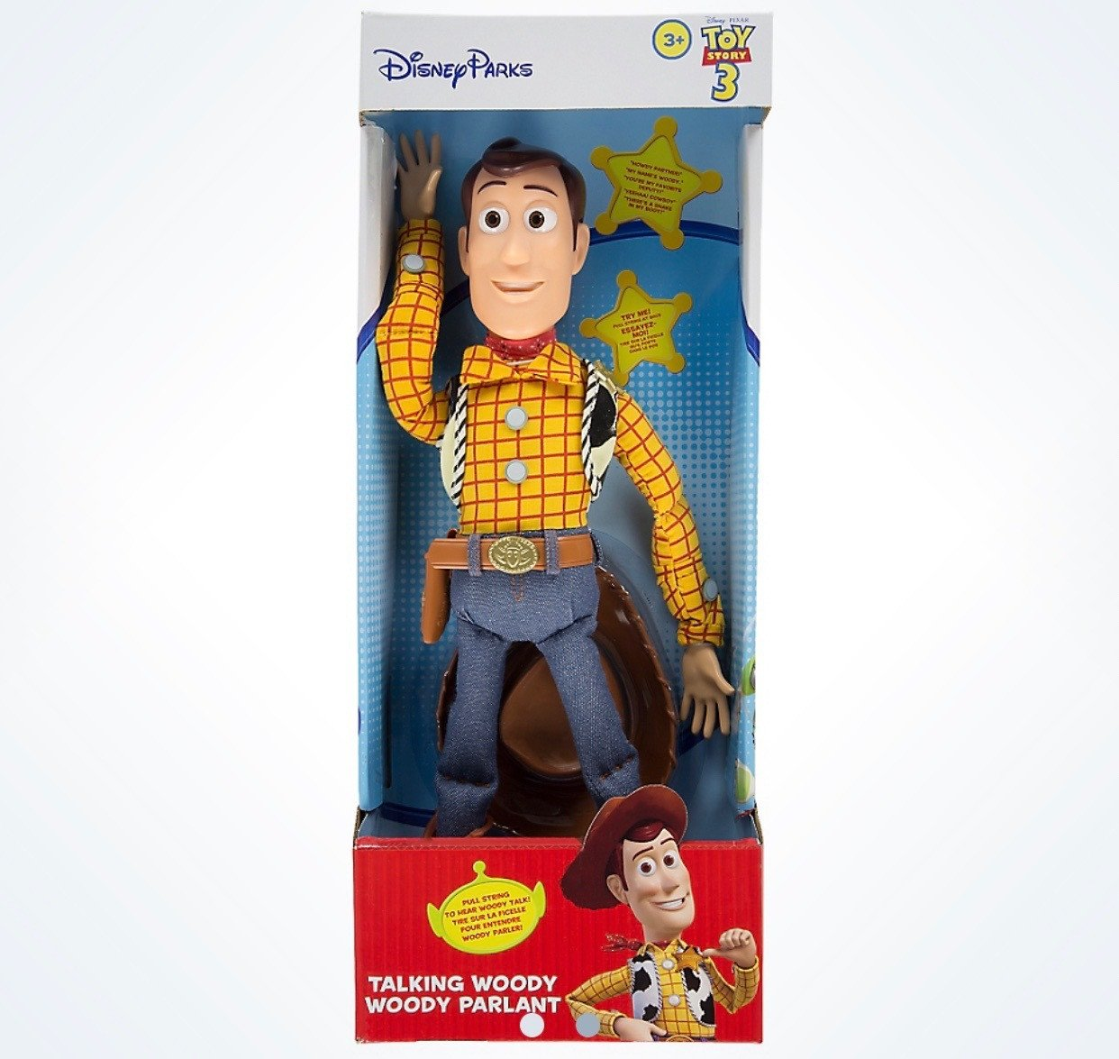 Disney Parks Pixar Toy Story Talking Woody Figure New with Box by