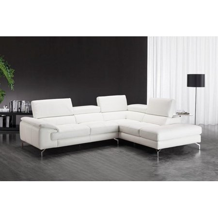 Groovy Jm Nila White Premium Italian Leather Sectional Sofa Right Hand Chaise Andrewgaddart Wooden Chair Designs For Living Room Andrewgaddartcom
