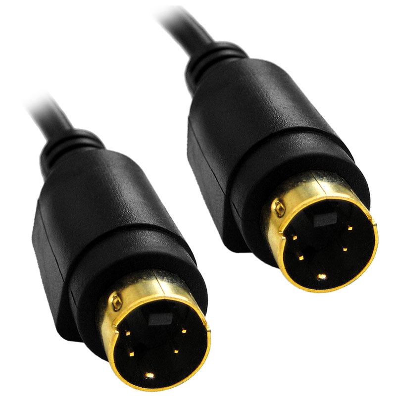 75 ft S-Video Monitor Cable for TV VCR DVD (M-M) AV 75' Foot Black by BattleBorn