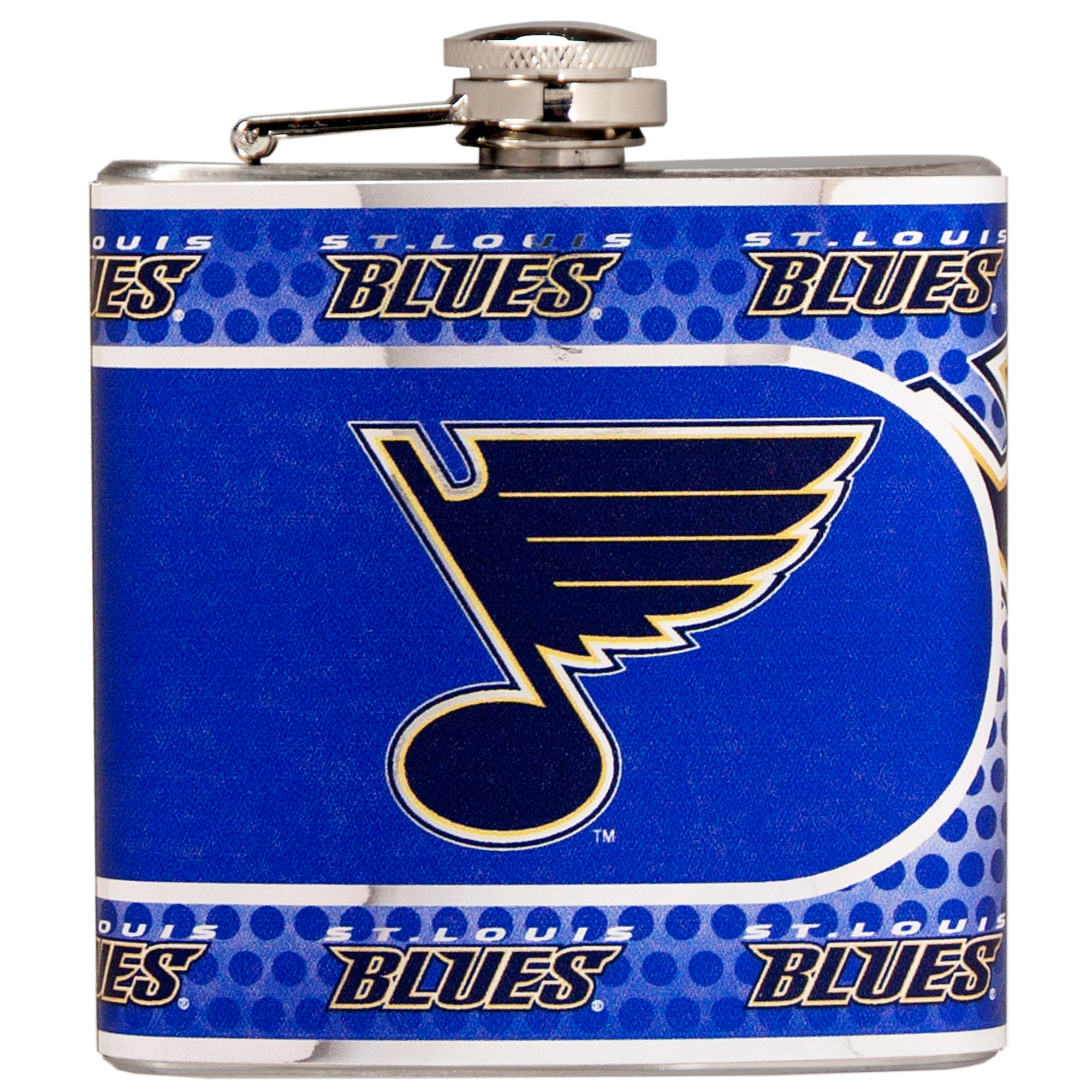 St. Louis Blues 6oz. Stainless Steel Hip Flask - Silver - No Size