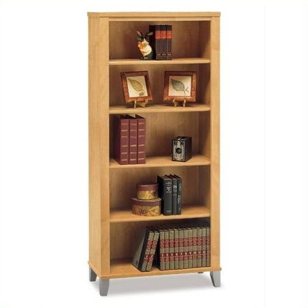Kingfisher Lane 5 Shelf Wood Bookcase in Maple Cross (Maple Lace)