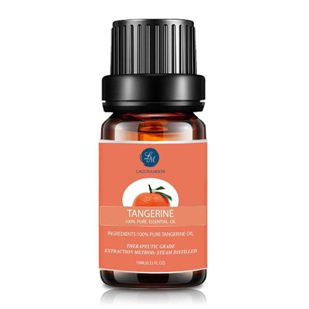 Lagunamoon 10ml Tangerine Essential Oils,Pure&Natural Aromatherapy Oil For Massage And Relaxation,Premium Therapeutic Grade,Fragrance For Personal Care&Wellness