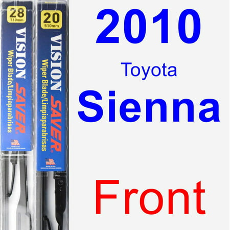 2010 Toyota Sienna Wiper Blade Set/Kit (Front) (2 Blades) - Vision Saver