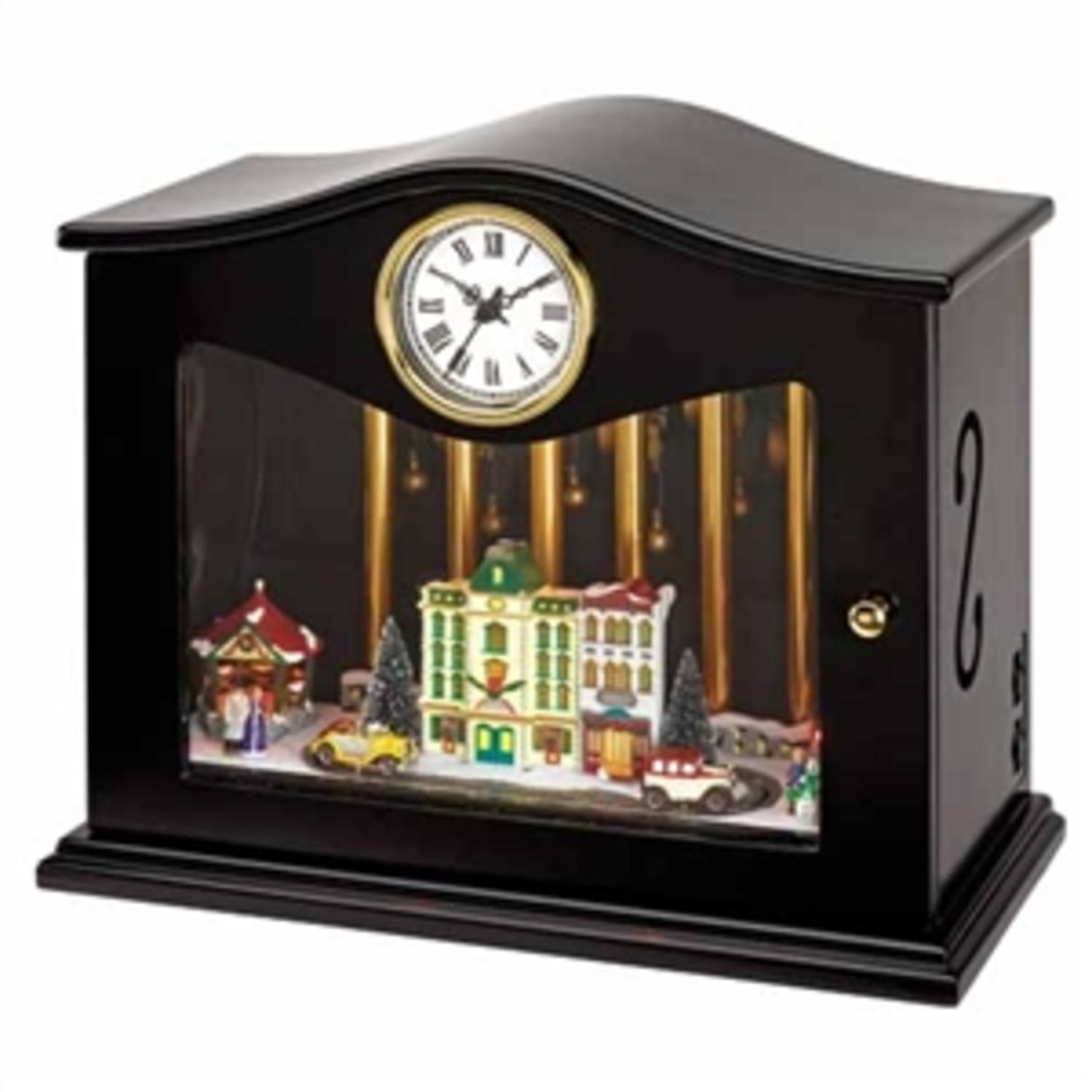 MR. CHRISTMAS Animated and Musical Clock with Chimes and ...