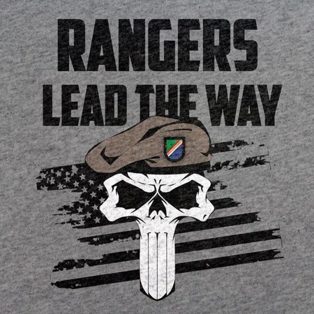 Army Rangers Lead The Way Skull T-Shirt