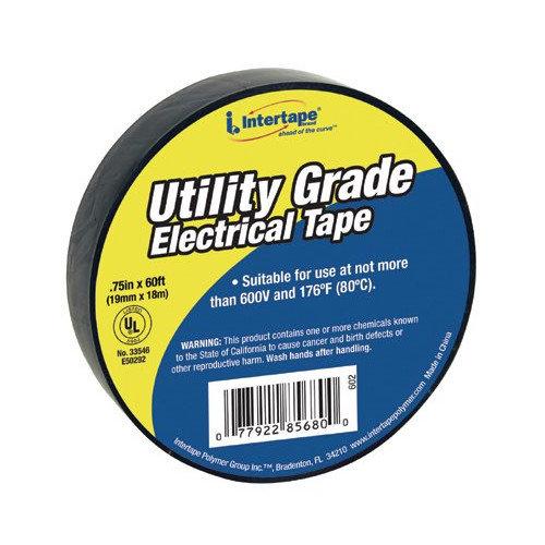 Intertape Polymer Group General Purpose Vinyl Electrical Tapes - ut-602 3/4''x60' 7-mil electrical tape black- (Set of 10)