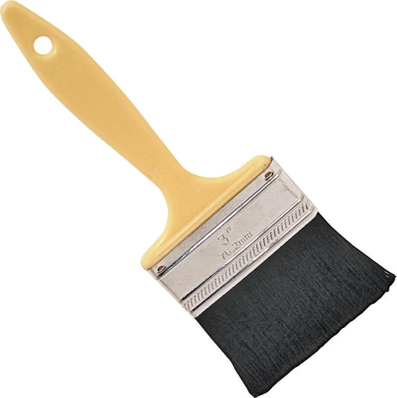 ProSource 110030 Paint Brush, 3 in W, Polyester Bristle