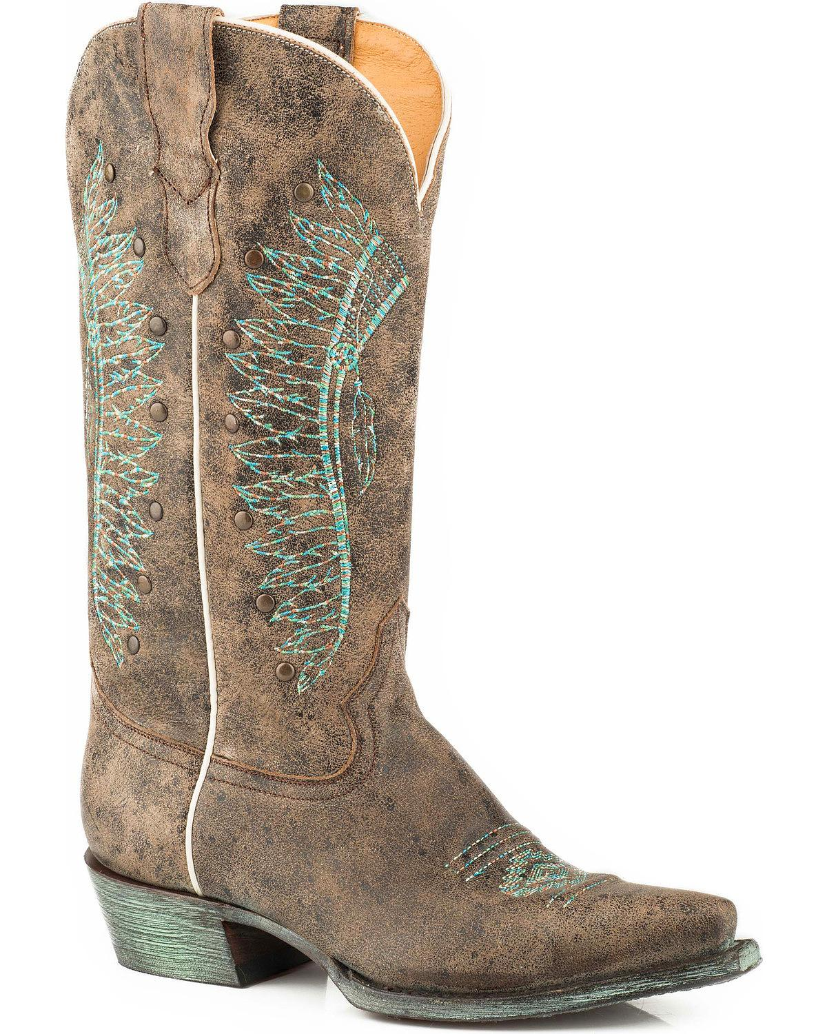 Roper Women's Chiefs Leather Boot Snip Toe - 09-021-7622-1429 Br
