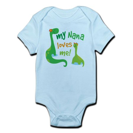 CafePress - My Nana Loves Me Dinosaur Infant Bodysuit - Baby Light - Dorothy The Dinosaur Onesie