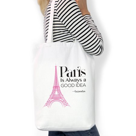 Paris Is Always A Good Idea Custom Cotton Tote Bag, Sizes 11