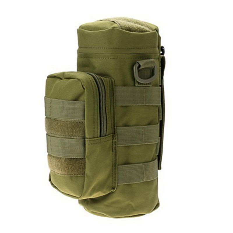 Portable Tactical Molle Water Bottle Holder Pouch 600D Military Sport Bag Hiking