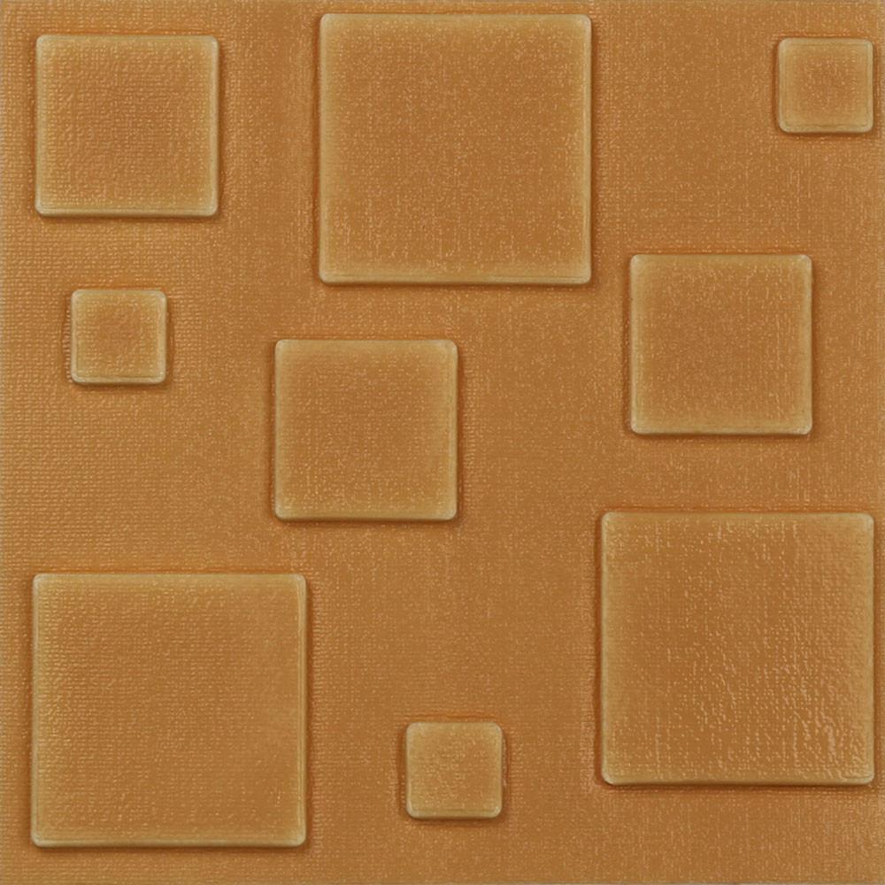 New PE Foam 3D Self-adhesive Wall Stickers Decor Tile Waterproof Wall Sticker BU