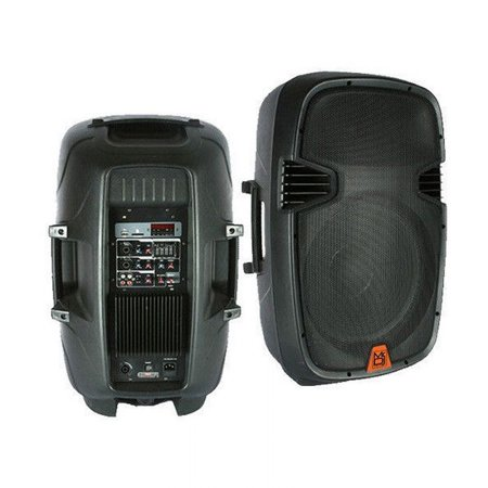 Mr. Dj PBX2609MP3 15-Inch 2000 Watt Max Peak Momentary Powered 2 Way Full Range Loud Speaker System withBuilt in MP3 /USB/SD Card