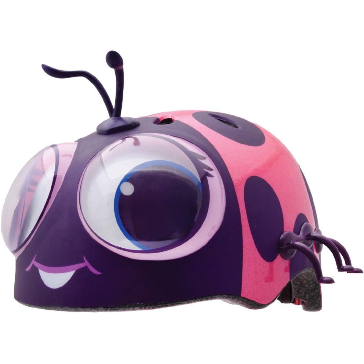 Raskullz Googly Lady Bug Toddler Bike Helmet, Pink