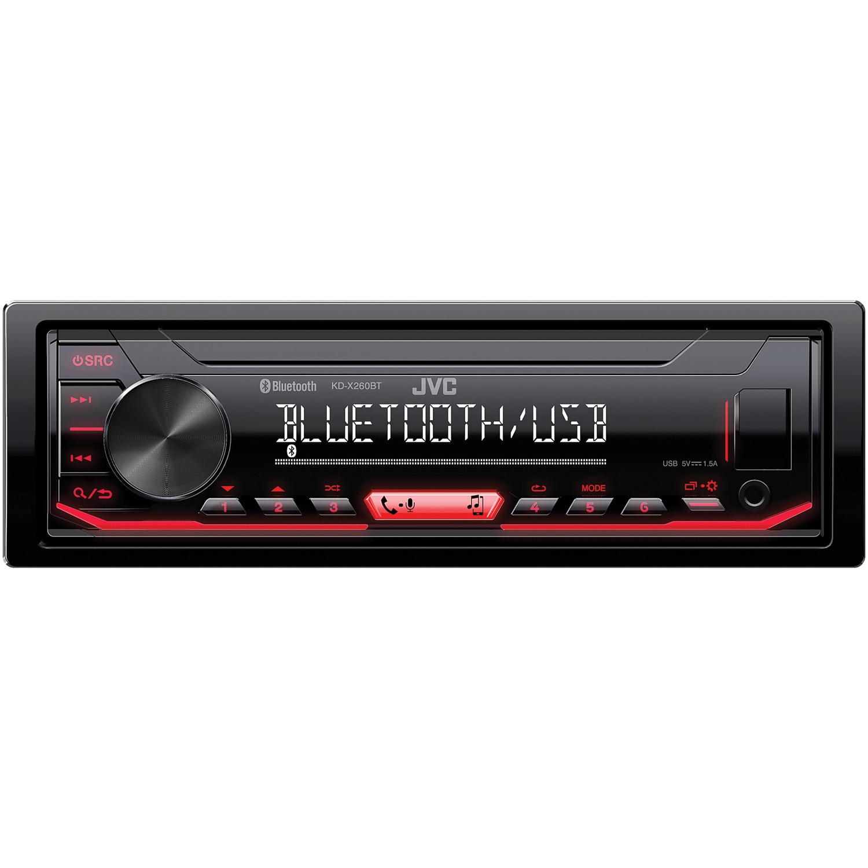 JVC Mobile KD-X260BT - 1-DIN In-Dash Digital Media Receiver with Bluetooth