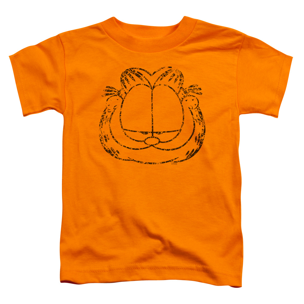 Garfield Smirking Distressed Little Boys Shirt