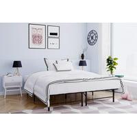 Mainstays Metal Platform Bed Frame/Foundation, Black, Multiple Sizes