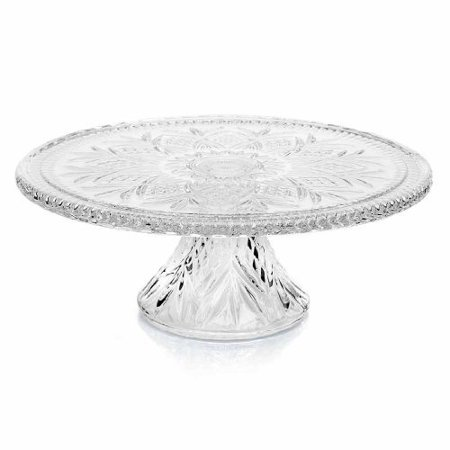DUBLIN COLLECTION ROUND CRYSTAL FOOTED CAKE PLATE