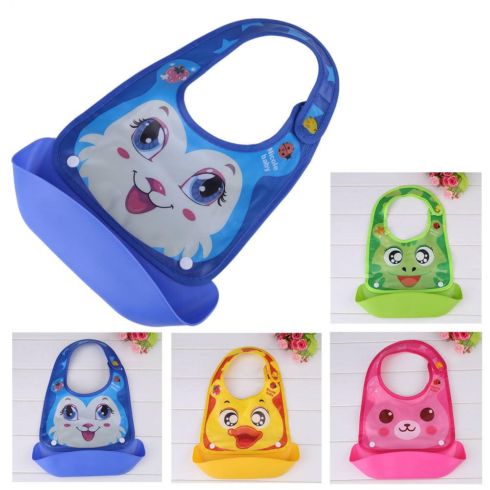 4 Types Waterproof Baby Kids Boys Girls Comfort Pocket Bib Cartoon Pattern Burp Cloths Feeding Tool, Baby Bibs, Bib Burp Cloth