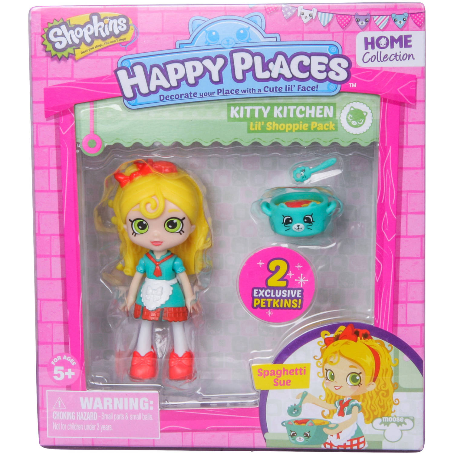 Shopkins Happy Places Doll Single Pack, Spagetti Sue