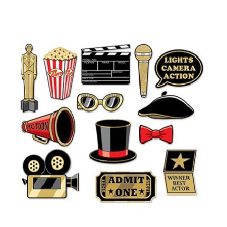 Club Pack of 180 British Photo Fun Cutout Signs Party Decorations 11.5
