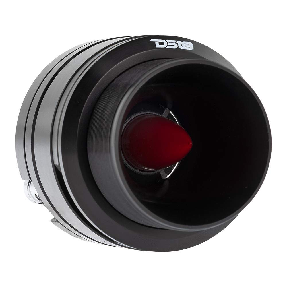 "DS18 PRO-TW820 1"" Aluminum Super Bullet Tweeter 200 W Max 100 W RMS Neodymium Magnet (1 Speaker Included)"