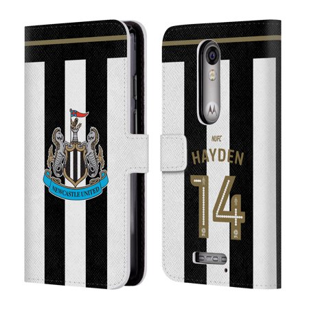 OFFICIAL NEWCASTLE UNITED FC NUFC 2016/17 HOME KIT 2 LEATHER BOOK WALLET CASE COVER FOR MOTOROLA PHONES 2