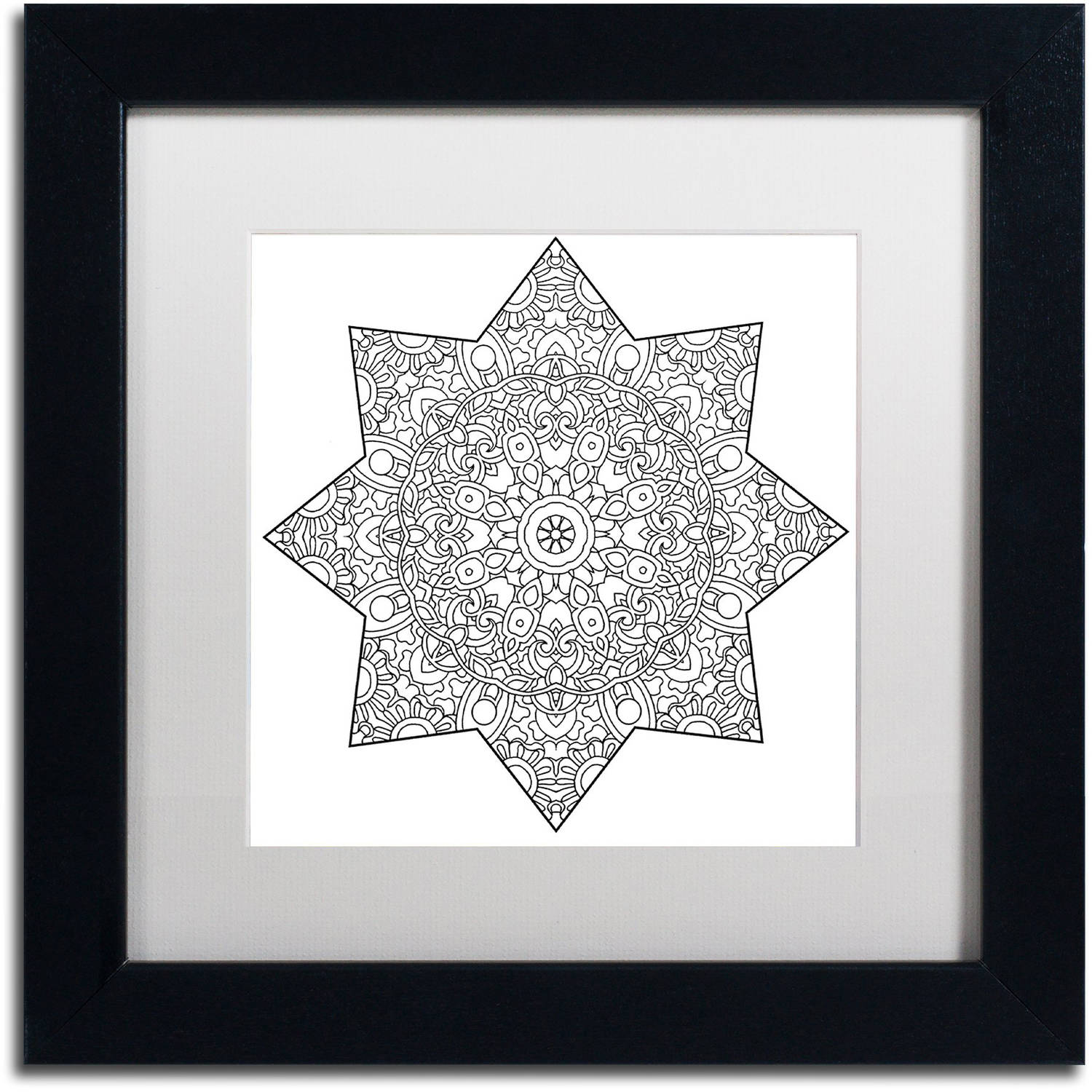"""Trademark Fine Art """"Mixed Coloring Book 1"""" Canvas Art by Kathy G. Ahrens, White Matte, Black Frame"""