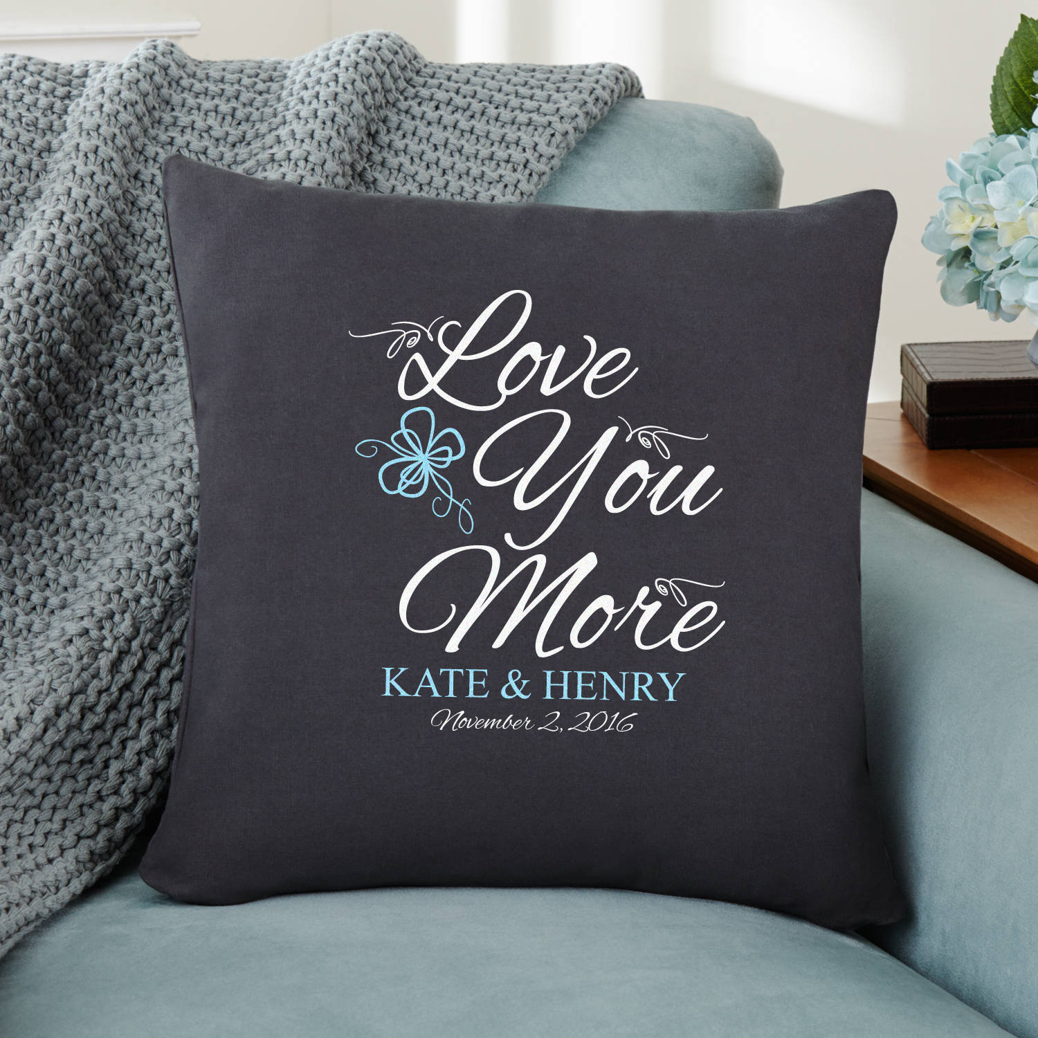 Personalized More in Love Throw Pillow