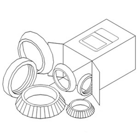 WBKCA5 New Wheel Bearing Kit Made to fit Case-IH Tractor