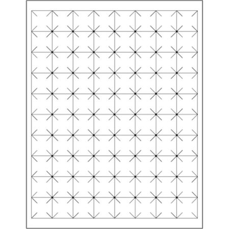 Tape Logic LL105 1 x 1 in. White Rectangle Security Slit Laser Labels - Pack of 8000