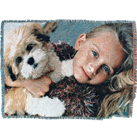 Turn Your Pictures Into a Custom Personalized Full Color Photo Throw Blanket
